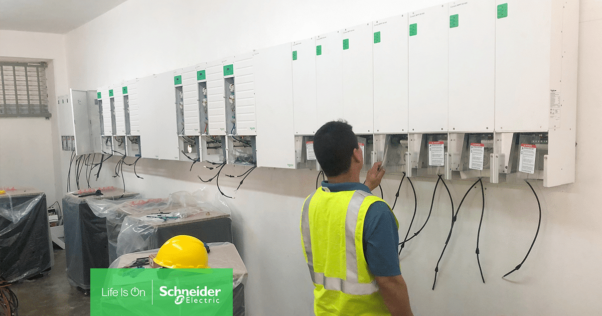 Schneider Electric's solar products are used in Red Cross microgrid projects in Puerto Rico